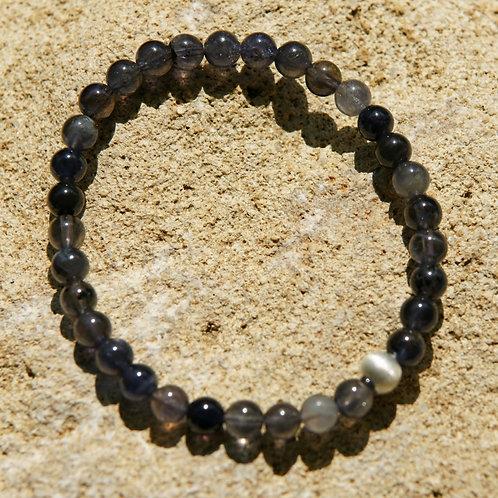 Armband, Bracelet: Iolit Silber 925