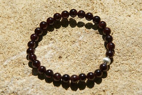 Armband, Bracelet: Granat Pyrop Silber 925