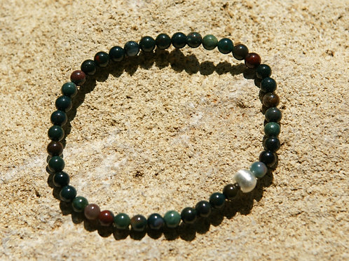 Armband, Bracelet: Heliotrop Silber 925