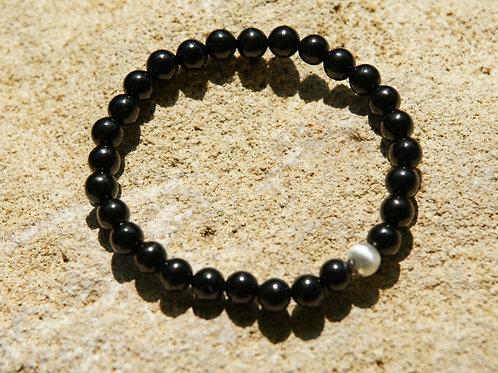 Armband, Bracelet: Gagat Silber 925
