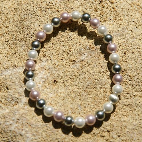 Armband, Bracelet: Muschelkern Silber 925