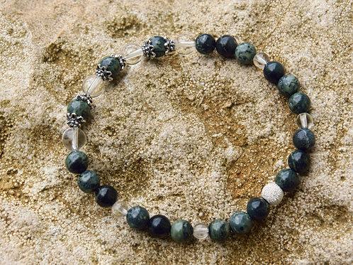 Armband, Bracelet: Bergkristall KabambaSilber 925