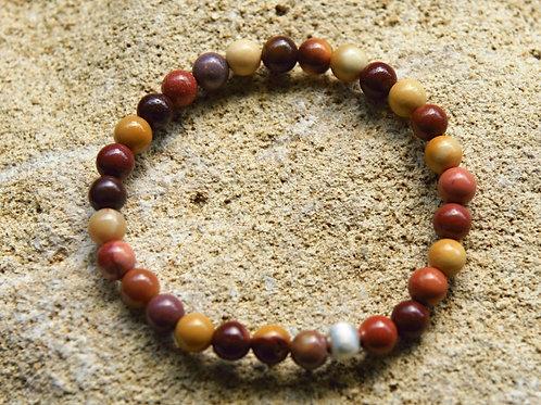 Armband, Bracelet: Mookait Silber 925