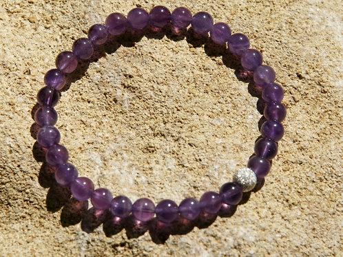 Armband, Bracelet: Amethyst Silber 925
