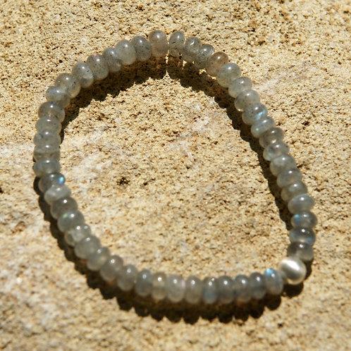 Armband, Bracelet: Labradorit  Silber 925