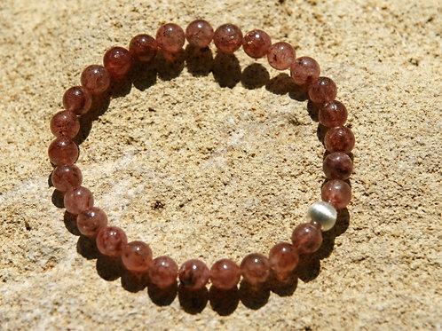 Armband, Bracelet: Muskovit Silber 925