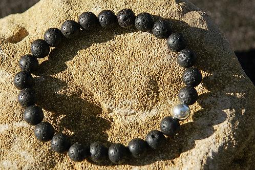 Armband, Bracelet: Lava Silber 925