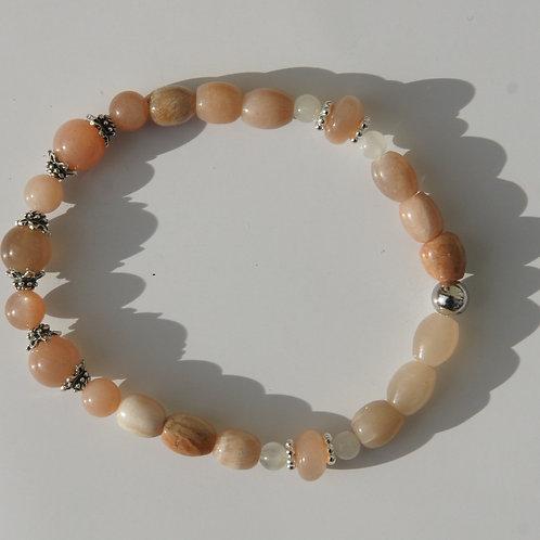 Armband, Bracelet: Mondstein Silber 925