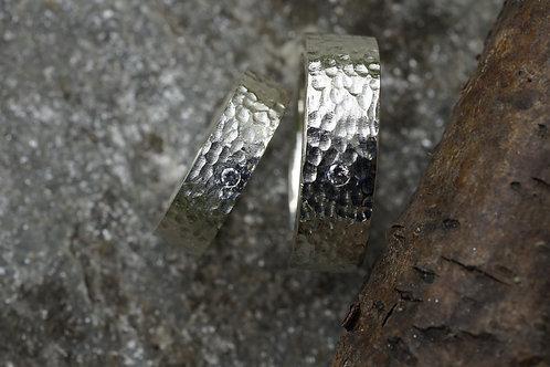 Eheringe in Silber 925 mit Brillant