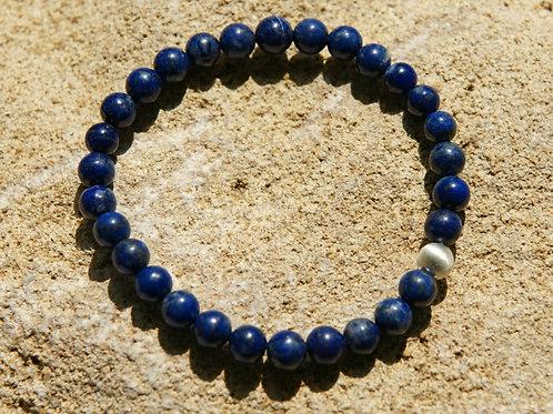 Armband, Bracelet: Lapislazuli Silber 925