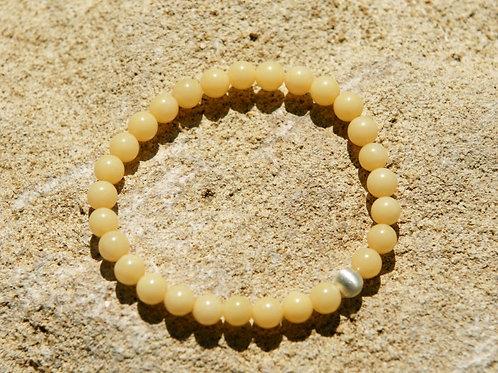 Armband, Bracelet: Aragonit gelb Silber 925