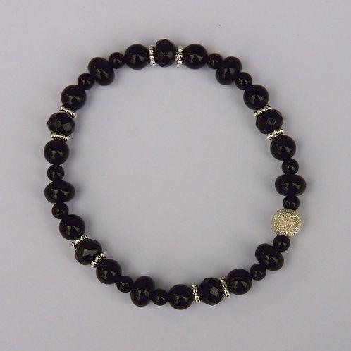 Armband, Bracelet: Turmalin Schörl Silber 925