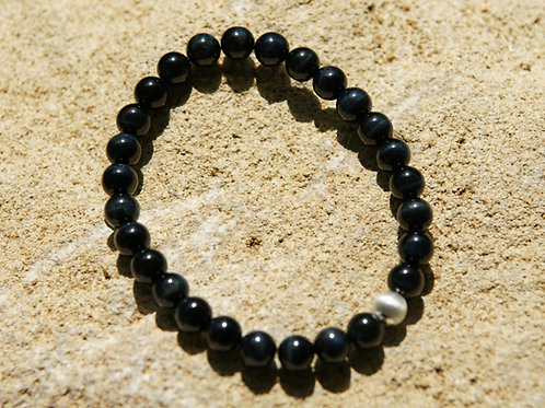 Armband, Bracelet: Falkenauge Silber 925