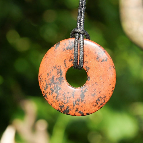 Anhänger: Mahagony Obsidian  Durchmesser 35mm