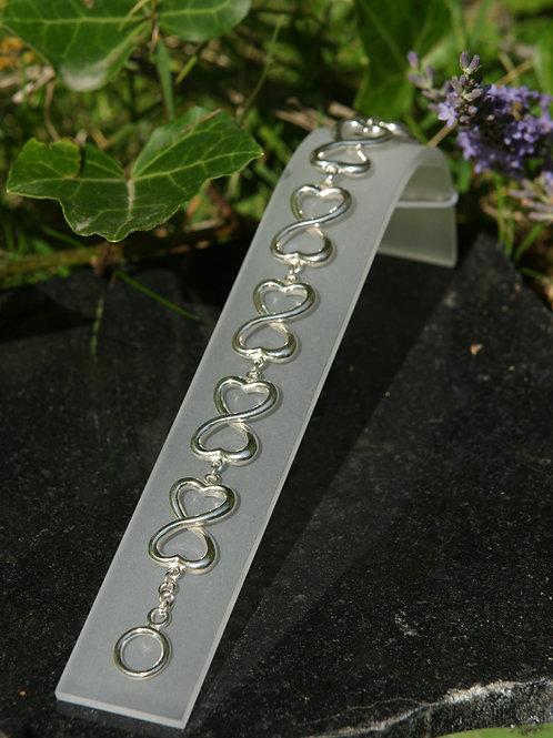 Armband Silber 925 Liegende 8