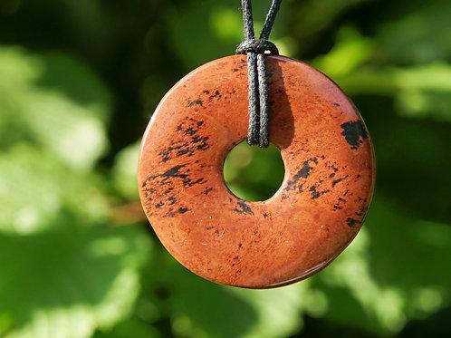 Anhänger: Mahagony Obsidian  Durchmesser 50mm
