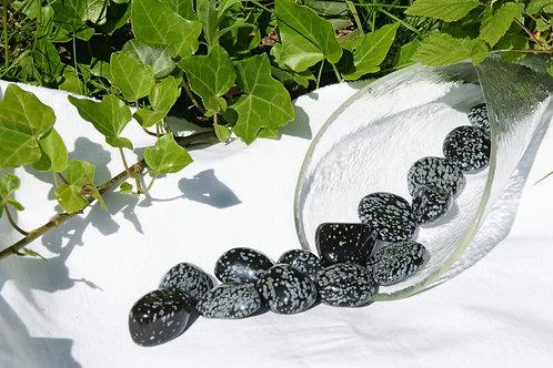 Trommelstein: Schneeflocken Obsidian