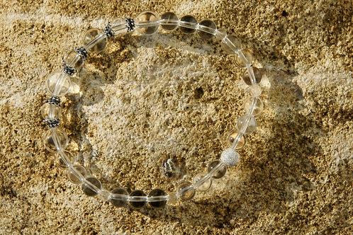 Armband, Bracelet: Bergkristall  Silber 925