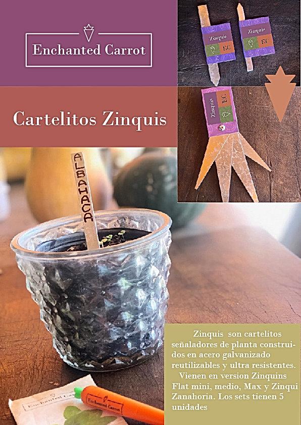 Cartelitos Zinquis Flat