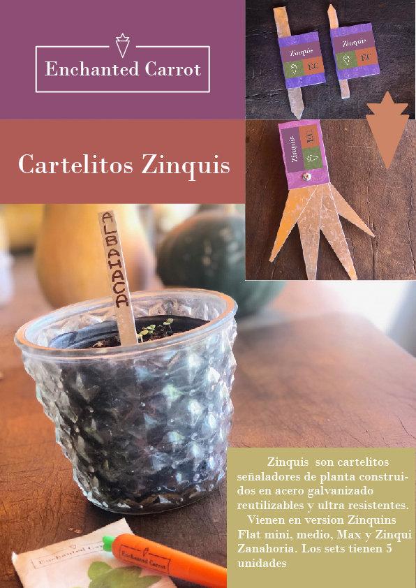 Cartelitos Zinquis Zanahoria