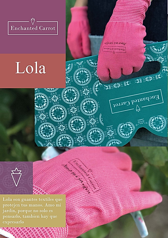 Lola guantes texil