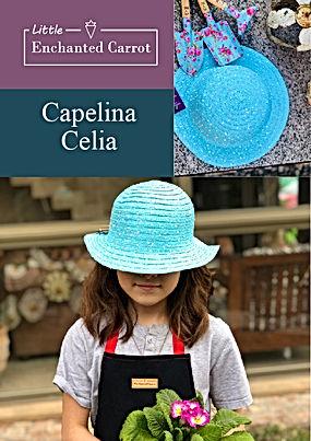 Celia es una hermosa capelina que nos protege cuando trabajamos en el jardín o en la playa o donde quieras usarla, es tan linda  que te va a encantar.  Su diámetro es de 18 cm.