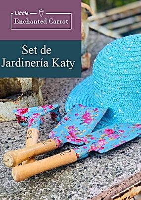 El Gift Set Katy de Enchanted Carrot, está compuesto por dos palas y un rastrillo, con un delicado estampado de flores liberty.    Las herramientas, además de bellas son de excelente calidad y robustez.  Son herramientas  pequeñas, ideales para niños   Vienen presentadas en un estuche de regalo  muy vistoso de 22cm x25cm x6 cm.