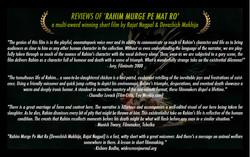 RAHIM MURGE PE MAT RO FILM REVIEWS