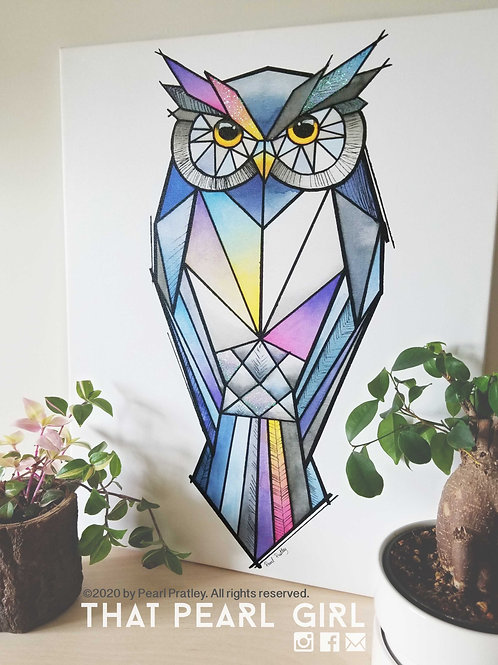 Large Owl Canvas