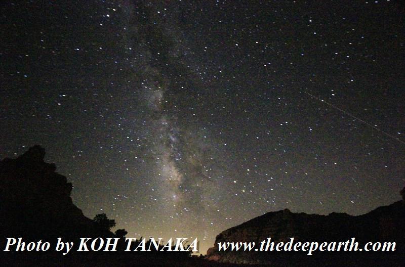 セドナの星空 とても綺麗に見えます