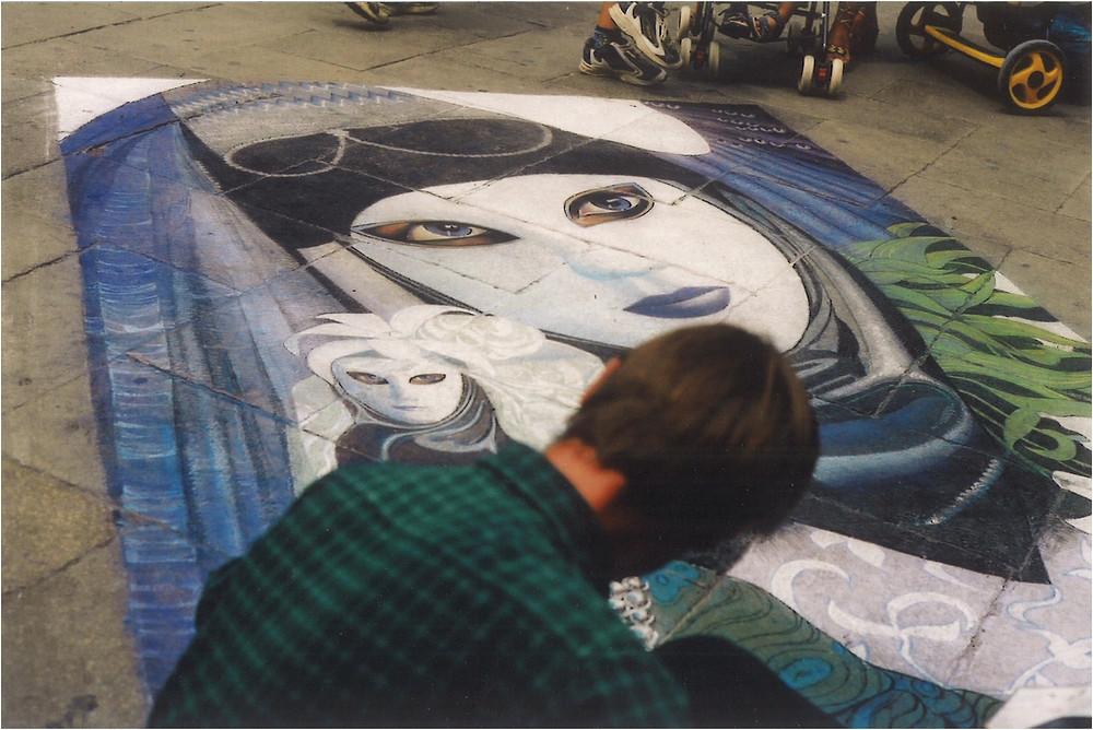 Venice street art masqerade