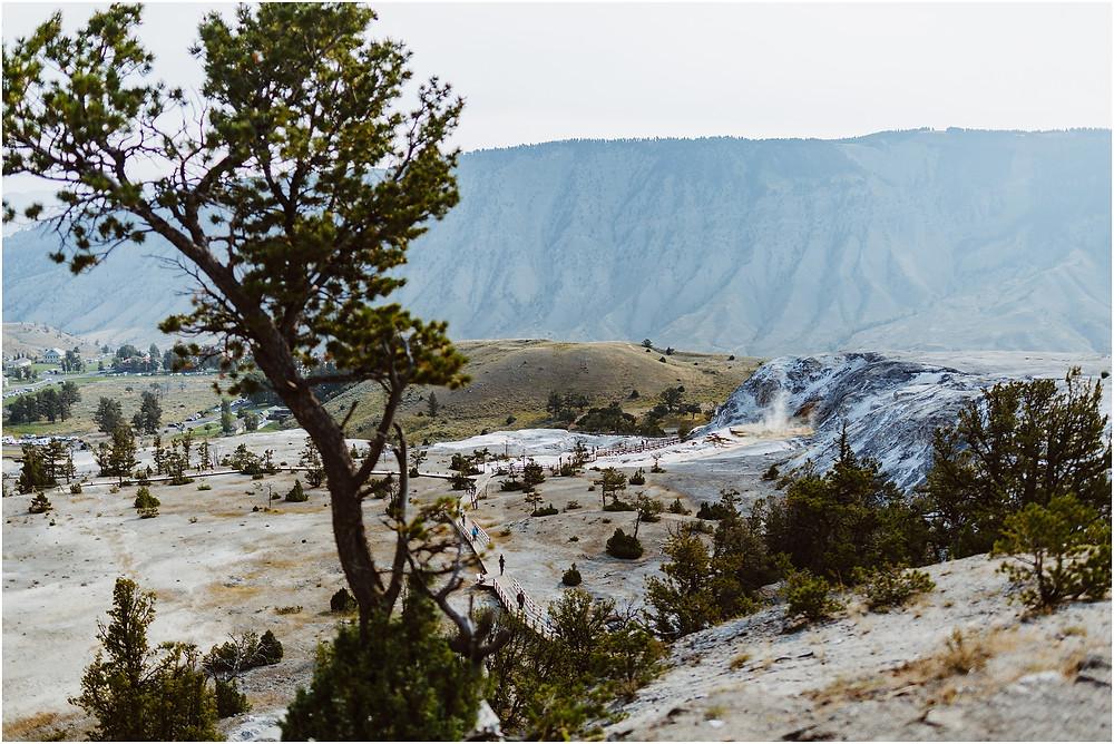 Iowa City Photographer travel Yellowstone Mammoth Hot Springs