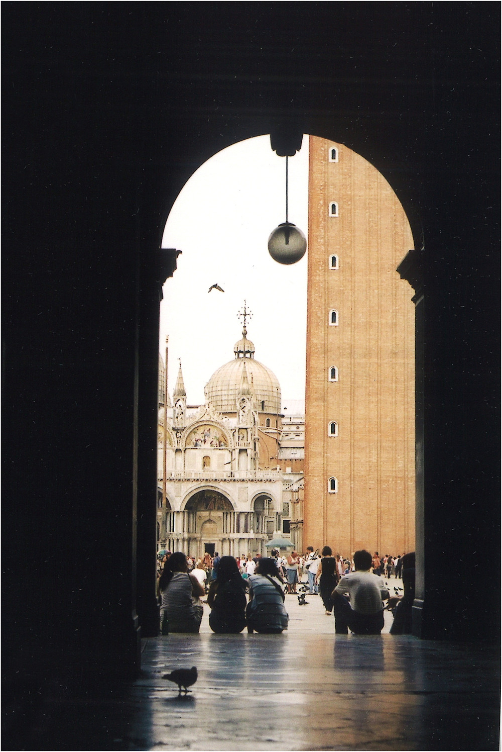 View of the Basilica of San Marco from the arch