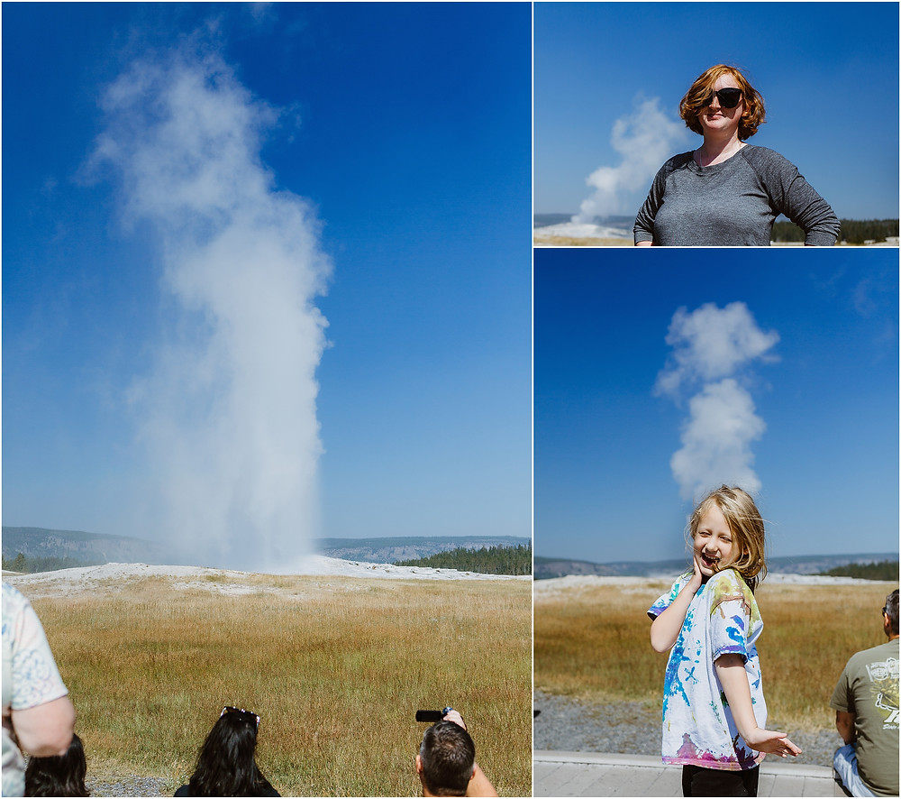 Iowa City Photographer travel Yellowstone Old Faithful