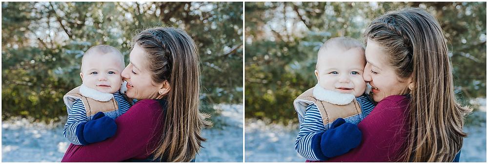 Iowa City winter family photos