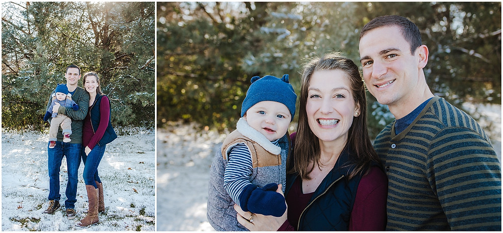 Coralville family photography winter