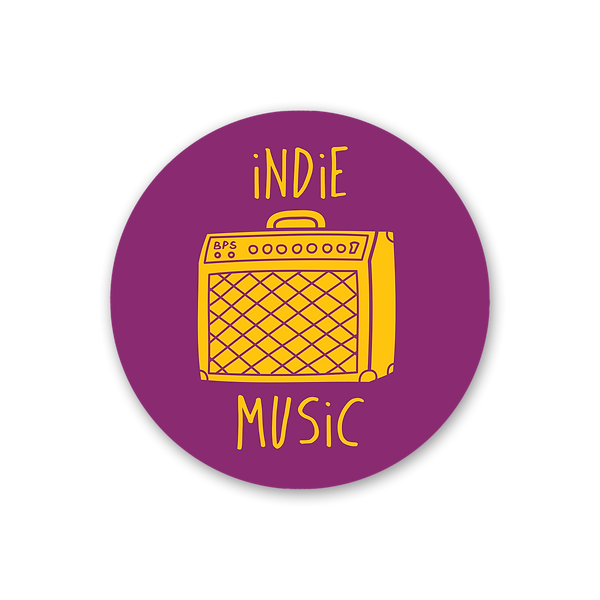 indie music - sticker - product photo.pn