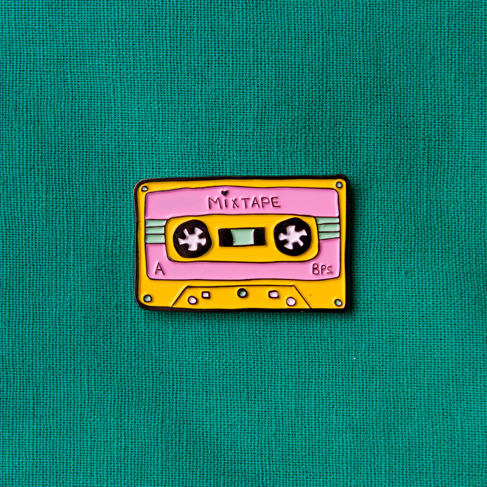 Introducing the Mixtape Enamel Pin!