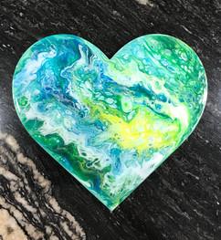 Fluid Art Heart Wall Plaque