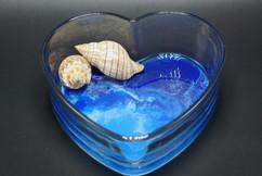Ocean Waves Heart Dish