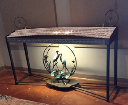 I love client pics!  Below is the table in it's final home, looks great.