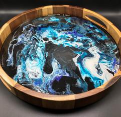 Fluid Art Serving Tray