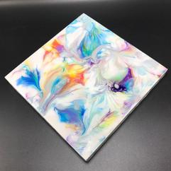 Fluid Art on Wood Canvas