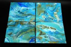 Fluid Art Coaster Set