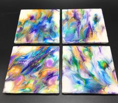 Fluid Art Coasers