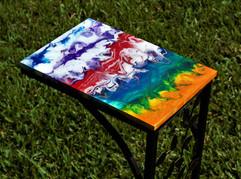 Fluid Art Side Table