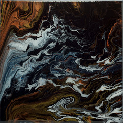Copper Wave Painting