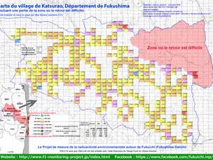 Carte de contamination du village de Katsurao