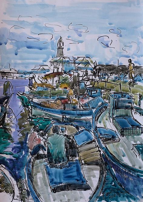 Barques al Moll de Pescadors