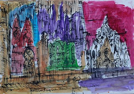 Sagrada Familia Acuarela #3